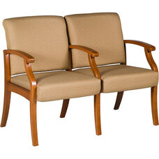 Florin Two Seater Guest Chair - Vinyl Upholstery