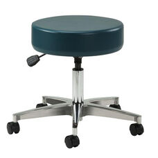 Pneumatic Height Adjustable Stool - Aluminum Base