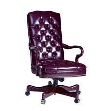 Hamilton Series Gooseneck Executive Swivel Chair with Tufts