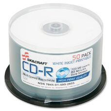 Skilcraft High Print Quality Cd-Rs withSpindle - Pack Of 50