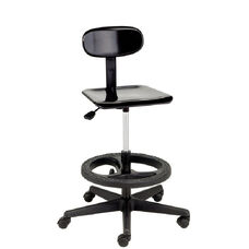 Legacy Series Adjustable Height Lab Stool with Foot Ring