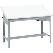 Precision 56.5'' W x 35.5'' H Drafting Table Base - Gray