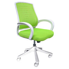 Iona Mesh Chair with White Frame - Green