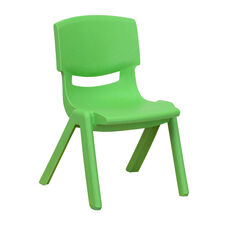 Green Plastic Stackable School Chair with 10.5