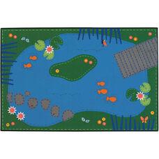 Kids Value Tranquil Pond Rectangular Nylon Rug - 72