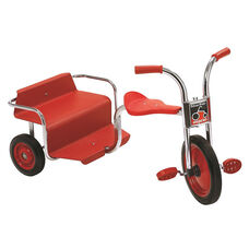 Angeles Silver Rider Rickshaw with Spokeless Solid Rubber Wheels - Red
