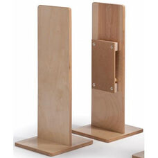Birch Laminate Room Divider Straight Post with Durable Construction
