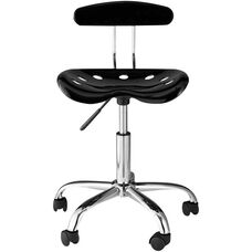 OneSpace Computer Task Chair with Tractor Seat and Back - Black