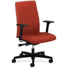 The HON Company Mid-Back Executive Chair with Adjustable Arms - Poppy