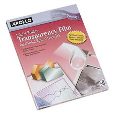 Apollo Inkjet Removable Strip Transparency Film - Pack Of 50
