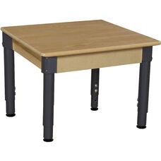 Solid Birch Hardwood Square Adjustable Height Children