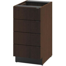 HON® Hospitality Single Base Cabinet with Four Drawers - 18