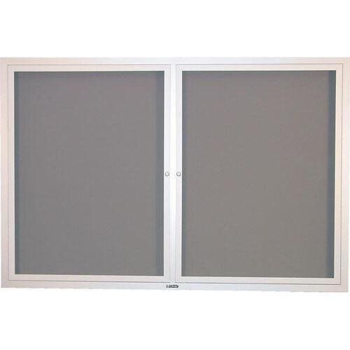 Contemporary Bulletin Board Hinged 2 Door Cabinet - 36