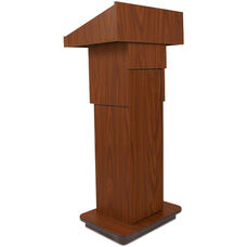 Executive Adjustable Column Non-Sound Lectern with High Pressure Laminate Finish - 21