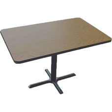 Laminate Top Rectangular Cafe Table with Cast Iron X-Base - 30