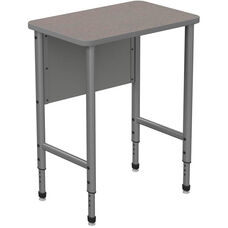 Apex Series Height Adjustable Stand Up Desk with PVC Edge - Gray Nebula Top with Gray Edge and Legs - 30