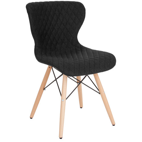 Our Riverside Contemporary Upholstered Chair with Wooden Legs in Black Fabric is on sale now.