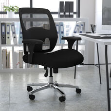 HERCULES Series 24/7 Intensive Use Big & Tall 500 lb. Rated Black Mesh Executive Ergonomic Office Chair with Ratchet Back