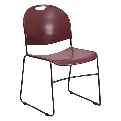 Our HERCULES Series 880 lb. Capacity Burgundy Ultra-Compact Stack Chair with Black Frame is on sale now.
