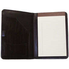 Junior Writing Portfolio Organizer - Colorado Old Bounded Leather - Black