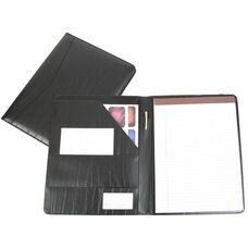 Writing Padfolio Document Organizer - Colorado Old Bonded Leather - Black