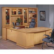 OSP Furniture Mendocino Hardwood Veneer Executive U-Suite