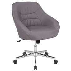 Marseille Home and Office Upholstered Mid-Back Chair in Light Gray Fabric