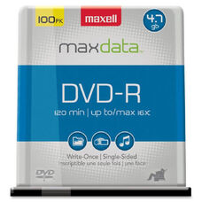 Maxell 16x DVD-R Media - 4.7GB - 100 Pack