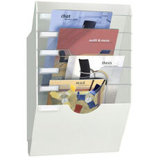 Wall Display Rack with 6 Part Crystal Dividers - White