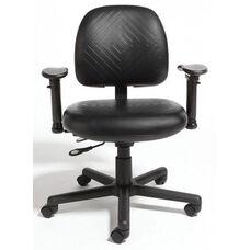 Triton Plus Medium Back Desk Height Chair with 350 lb. Capacity - 4 Way Control