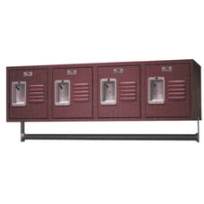 Traditional Series 4 Wall Mount Powder Coated Steel Locker with Recessed Handle