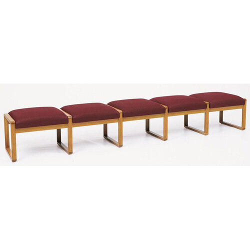 Contour Series 5 Seat Backless Bench with Sled Base