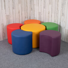 """Soft Seating Collaborative Flower Set for Classrooms and Common Spaces - Assorted Colors (18""""H)"""