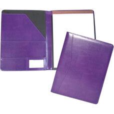 Writing Padfolio Document Organizer - Aristo Bonded Leather - Plum