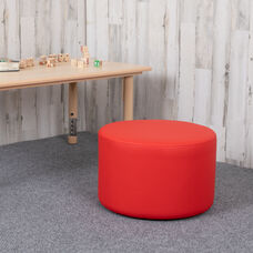 """Soft Seating Collaborative Circle for Classrooms and Daycares - 12"""" Seat Height (Red)"""