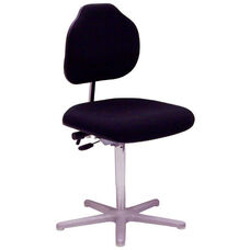 Brio Big and Tall Task Chair with Black Vinyl Cushioned Seat and Aluminum Star Base with Glides - Low Profile