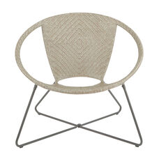Inspired By Bassett Navarre Lounge Chair - Grey Fade with Gunmetal Frame