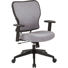 Space 213 Series Deluxe 2 to 1 Mechanical Height Office Chair with Adjustable Arms Chair - Steel
