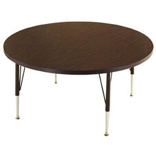 Customizable Round Non-Folding Adjustable Height Activity Table with Chrome Inserts - 36