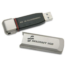 SKILCRAFT 8GB USB 2.0 Flash Drive - 8 GB - Silver