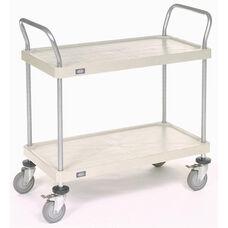 Solid Plastic 2 Shelf Utility Cart - 18
