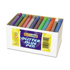 Chenille Kraft Company Glitter Glue Pens - Resealable - 72/Box - Assorted