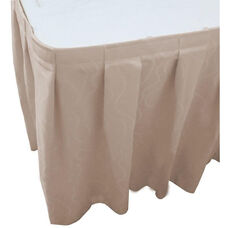 Wave 17 Foot Boxed Pleat Table Skirt with SnugTight™ Clips - Ivory