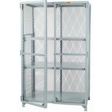 Welded Storage Locker with 2 Adjustable Center Shelves - 24