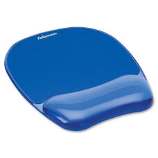 Fellowes Gel Mousepad/Wrist Rest - Crystals, Blue - 9.2