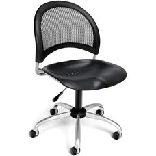 Moon Swivel Plastic Chair - Black