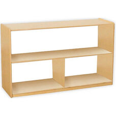 Versatile Wooden Mobile 2 Shelf Storage Unit with Acrylic Back - 48