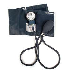 Deluxe Latex Free Aneroid Blood Pressure Monitor - Blue