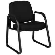 Guest and Reception Chair with Arms - Black