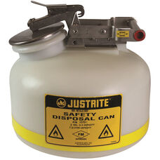 2 Gallon Liquid Disposal Can with Stainless Steel Flame Arrester - White